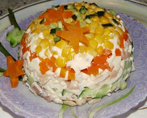 salata s kalmarami