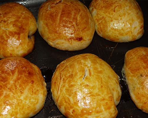 Дрожжевые булочки с вареньем 2