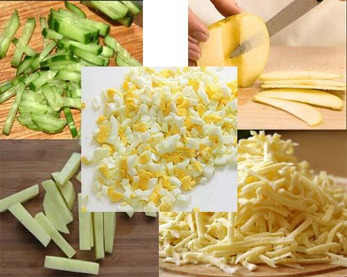 продукты для салата пошагово