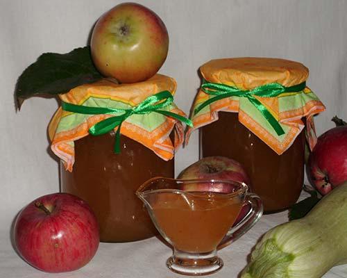 Варенье из кабачков с цитрусовыми и яблоками