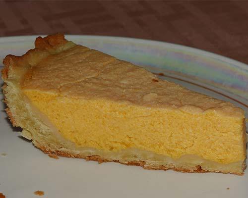 Пирог с творожно-тыквенной начинкой